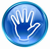 Hand icon blue Stock Images