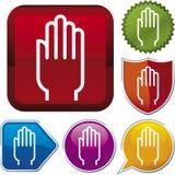 hand icon open series vector Στοκ φωτογραφία με δικαίωμα ελεύθερης χρήσης