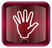 Hand icon red Stock Photography
