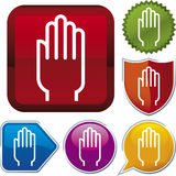 Hand icon series Royalty Free Stock Photo