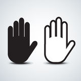 Hand. Icon,  stop symbol black abstract Royalty Free Stock Photos