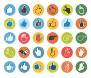 Hand icon. Vector set. Royalty Free Stock Photo