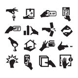 Hand icons Stock Photos