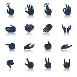 Hand Icons Black Stock Images
