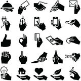 Hand icons Royalty Free Stock Photography