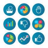 Hand icons. Like and dislike thumb up symbols. Stock Photos