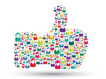 Hand icons of people - like Royalty Free Stock Image
