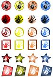 Hand icons Stock Images