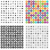 100 hand icons set variant. 100 hand icons set in 4 variant for any web design isolated on white royalty free illustration