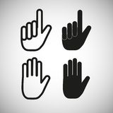 Hand icons, vector Royalty Free Stock Photo
