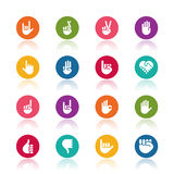 Hand icons Stock Photography