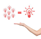 Hand and idea concept Stock Photos