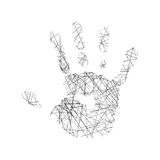 Hand illustration vector Royalty Free Stock Image