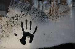 Hand im Frost Lizenzfreie Stockbilder