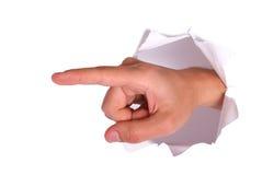 Hand im Weiß Lizenzfreie Stockfotografie