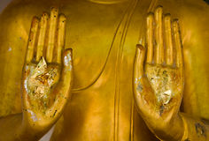 Hand Image Of Buddha Means Stop Sinning Stock Photos