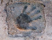 Hand imprint Stock Image