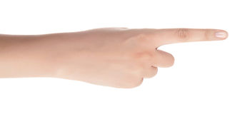 Hand with the index finger Stock Image
