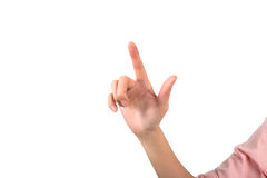 Hand with index finger point up Stock Image