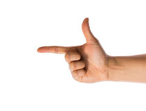 Hand with index finger pointing Stock Photos