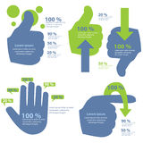 Hand Info-Graphic. Hand info graphic abstract concept stock illustration