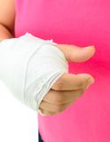 Hand injury Stock Images