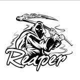 Hand Inked Grim Reaper Illustration Stock Photography