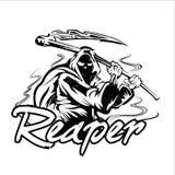 Hand Inked Grim Reaper Illustration. Vector illustration Stock Photography