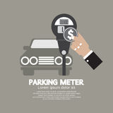 Hand Insert Coin Into Parking Meter Royalty Free Stock Photo