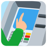 Hand inserting credit card into the atm slot Stock Photography