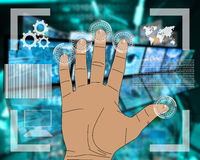 Hand interface Royalty Free Stock Images