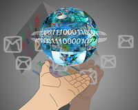 Hand of Internet Royalty Free Stock Photo