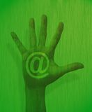hand internettemat Arkivbild