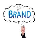 Hand isolate pencil idea  write blue brand business illustration. Hand isolate pencil idea  write blue brand business illustration vector concept Stock Photos