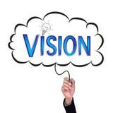 Hand isolate pencil idea  write blue vision illustration. Hand isolate pencil idea  write blue vision illustration and education vector concept Stock Photography