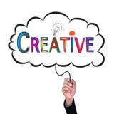 Hand isolate pencil idea  write colorful creative illustration. Hand isolate pencil idea  write colorful creative illustration and education vector concept Stock Image