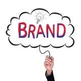 Hand isolate pencil idea  write red brand business illustration. Hand isolate pencil idea  write red brand business illustration vector concept Royalty Free Stock Photo