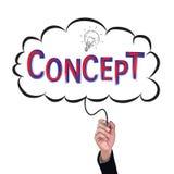 Hand isolate pencil idea  write red concept business. Hand isolate pencil idea  write red concept business illustration vector concept Stock Photo