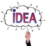 Hand isolate pencil idea write red idea business illustration. Hand isolate pencil idea  write red idea business illustration vector concept Royalty Free Stock Images