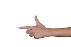 Hand on the isolated background. Royalty Free Stock Photography
