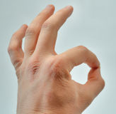 hand isolated ok sign white woman Стоковая Фотография RF