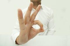 hand isolated ok sign white woman Стоковые Изображения RF