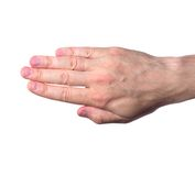 Hand isolated on white Royalty Free Stock Photography