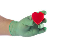 Hand isolated on white background heart Stock Photos