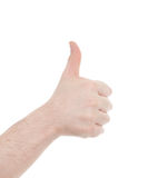 Hand isolated on white Stock Images