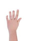 Hand isolated on white gesturing grabbing. Stock Photo