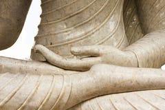 Hand of jade buddha image. At Wat Sangkatan, Nonthaburi province, Thailand Royalty Free Stock Photo