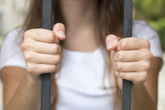 Hand in jail Royalty Free Stock Photos