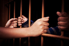 Hand in jail Royalty Free Stock Image