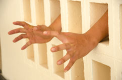 Hand in jail Royalty Free Stock Images